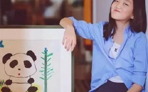 王菲女李嫣画作「熊猫与竹」百万卖出 网傻眼:不懂艺术
